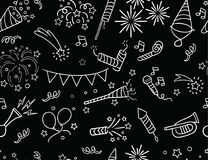 Handdrawn Party & Celebration Pattern Royalty Free Stock Image
