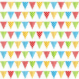Seamless pattern with party flags Stock Image