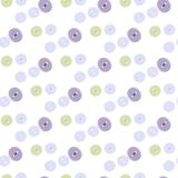 Seamless pattern of pastel colored buttons. On white background Royalty Free Stock Photo