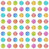 Seamless pattern with pastel colored flowers. On white background Royalty Free Stock Images