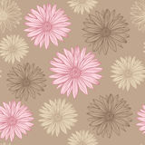 Seamless pattern in pastel colors flowers royalty free illustration
