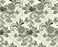 Seamless pattern in pastel colors shades of green Royalty Free Stock Images