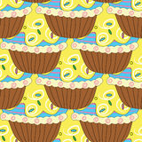 Seamless pattern with pastries and cakes Royalty Free Stock Image