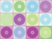 Pattern with patches and buttons Royalty Free Stock Photo