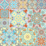 Seamless  pattern. Patchwork. in arabic style. Abstract illustration. Stock Images