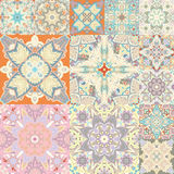Seamless  pattern. Patchwork. in arabic style. Abstract illustration. Stock Photo