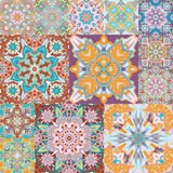 Seamless  pattern. Patchwork. in arabic style. Abstract illustration. Royalty Free Stock Images