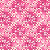 Seamless pattern, patchwork with hearts Royalty Free Stock Photo