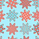 Seamless pattern with patchwork stars. Vector background Royalty Free Stock Photo