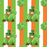 Seamless pattern on patrick day Royalty Free Stock Photography