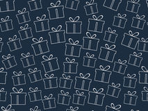 Seamless pattern. The pattern of gift boxes.. Seamless pattern. The pattern of gift boxes Royalty Free Stock Image