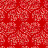 Seamless pattern with patterned heart Stock Photos
