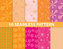 10 seamless pattern. These are 10 seamless patterns in eps10 format royalty free illustration