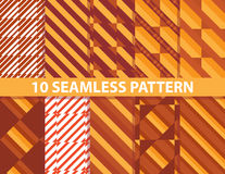 10 seamless pattern. These are 10 seamless patterns in eps10 format Stock Photos
