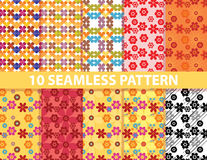 10 seamless pattern. These are 10 seamless patterns in eps10 format Royalty Free Stock Photography