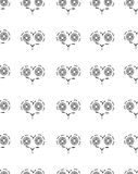Seamless pattern with patterns of hearts. On a white background Vector Illustration