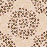 Seamless  pattern of paw footprint-illustration Stock Image