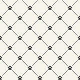 Seamless pattern with paw prints Royalty Free Stock Photos
