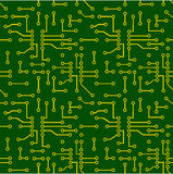 Seamless pattern of PCB vector Stock Images