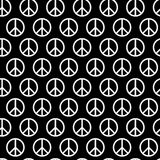 Seamless pattern with peace signs. Background for kid and adult textile, pajama, paper print, card  other design. Hippie Stock Photo