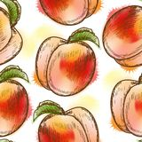 Seamless pattern with peach Stock Image