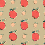 Seamless pattern with peaches Royalty Free Stock Image