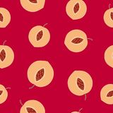 Seamless pattern with peaches. vector illustration