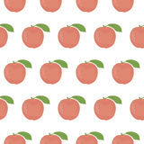 Seamless pattern with peaches Royalty Free Stock Photo