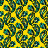 Seamless pattern - peacock feathers, abstract background Stock Photo