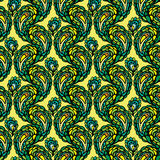 Seamless pattern - peacock feathers, abstract background Stock Image