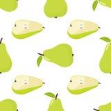 Seamless pattern of pear. Cartoon illustration. Vector Stock Photos