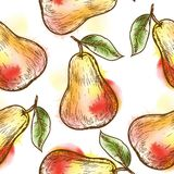 Seamless pattern with pear Stock Image