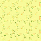 A seamless pattern with pear slices. Royalty Free Stock Images
