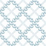 Seamless pattern with pearls 23. Seamless pattern with pearls. Watercolor illustration. Jewelry background Stock Photo