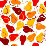 Seamless pattern with pears Stock Images
