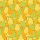 Seamless pattern with pears Royalty Free Stock Photos