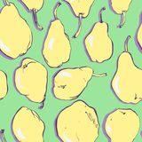 Seamless pattern with  pears Stock Photos