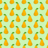 Seamless pattern pears. With curls on the side Stock Images