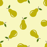 Seamless pattern with pears motive Royalty Free Stock Photos