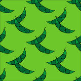 Seamless pattern with peas Stock Photography
