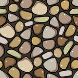 Seamless Pattern - Pebble cobblestone background Stock Images