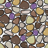 Seamless Pattern - Pebble cobblestone background Royalty Free Stock Images