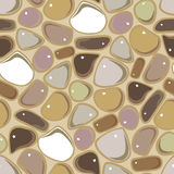 Seamless Pattern - Pebble cobblestone background Stock Photo