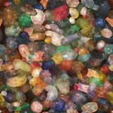 Seamless pattern pebbly stones. Vector, EPS10. Royalty Free Stock Image