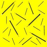 Seamless pattern pencil yellow background vector illustration Stock Photography