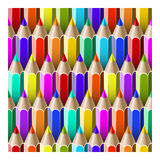 Seamless pattern pencils Royalty Free Stock Photos