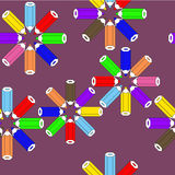 Seamless pattern with pencils round Royalty Free Stock Images
