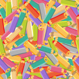 Seamless pattern with pencils. Stock Images