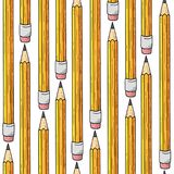 Seamless pattern. Pencils on white background. royalty free illustration