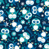 Seamless pattern with penguins Stock Image
